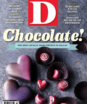 D Magazine cover, February 2012