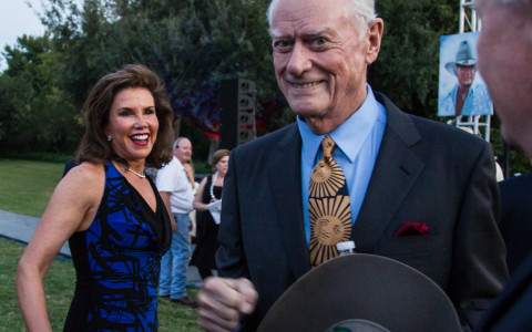 Larry Hagman + Lisa Blue Baron